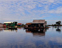 Floating Village on tributary to Tonle Sap Lake