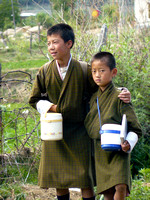 Boys on the Way Home from School, Bhutan